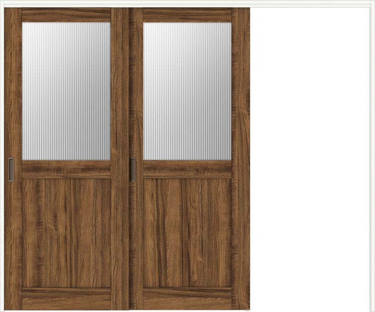 特注サイズ ラシッサDヴィンティア 室内引戸 間仕切り上吊引戸 片引戸2枚建て AVMKD-LGH 錠なし W:1604-2954mm × H:1750-2425mm