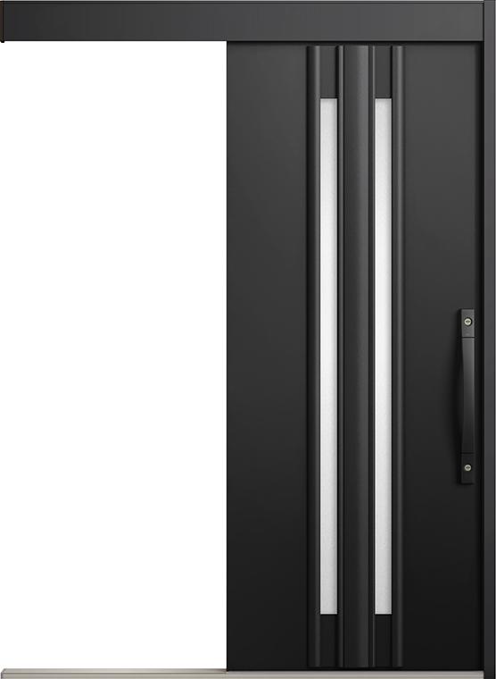エルムーブ2 一本引き L14型 アルミ色 システムキー仕様 呼称:160 W:1,608mm × H:2,150mm スライディングドア LIXIL リクシル TOSTEM トステム