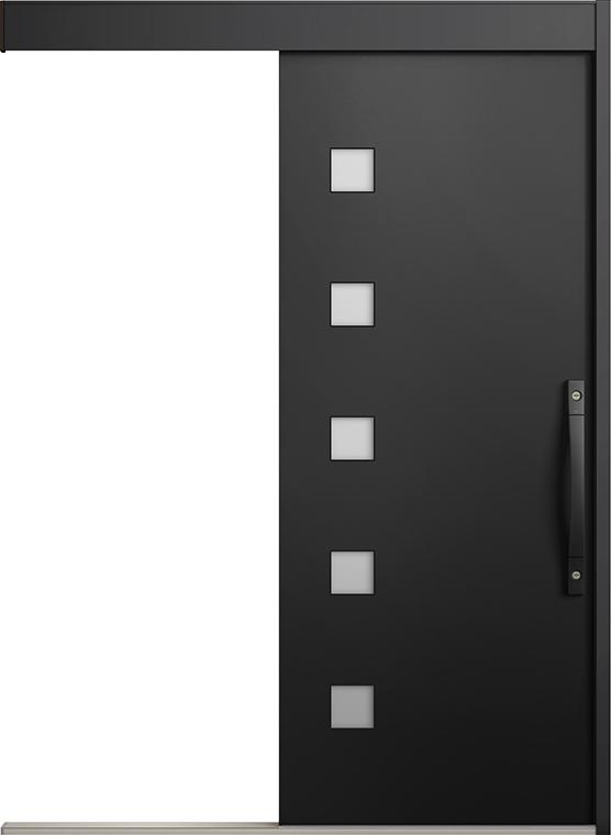 エルムーブ2 一本引き L21型 アルミ色 システムキー仕様 呼称:160 W:1,608mm × H:2,150mm スライディングドア LIXIL リクシル TOSTEM トステム