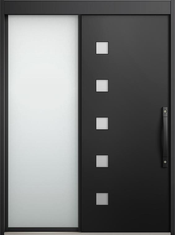 エルムーブ2 片袖 L21型 アルミ色 カザスプラス仕様 呼称:187 W:1,870mm × H:2,288mm スライディングドア LIXIL リクシル TOSTEM トステム