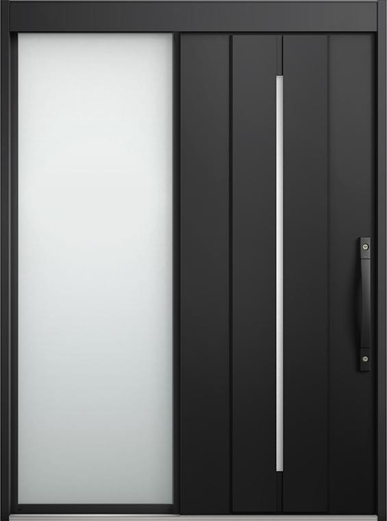 エルムーブ2 片袖 L22型 アルミ色 システムキー仕様 呼称:187 W:1,870mm × H:2,288mm スライディングドア LIXIL リクシル TOSTEM トステム