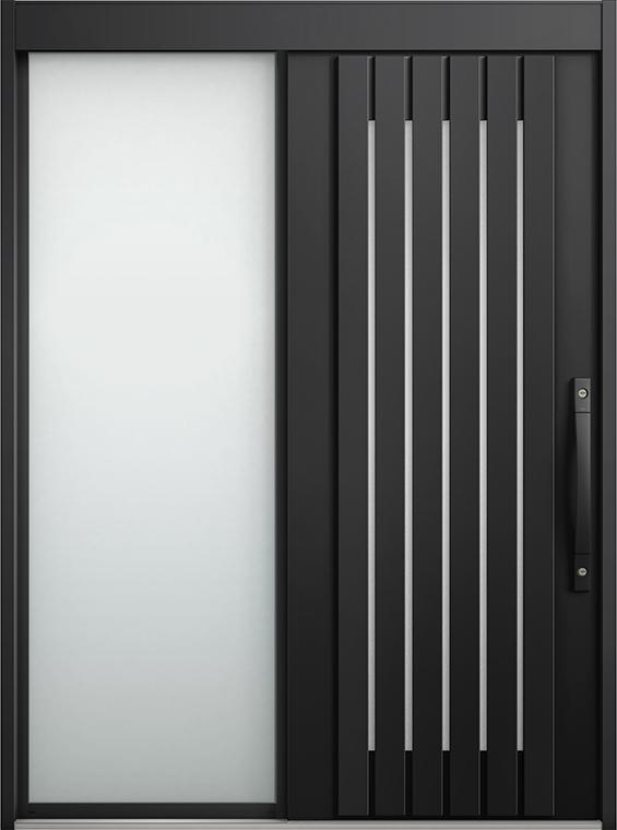 エルムーブ2 片袖 L24型 アルミ色 システムキー / リニアスライド仕様 呼称:187 W:1,870mm × H:2,288mm スライディングドア LIXIL リクシル TOSTEM トステム