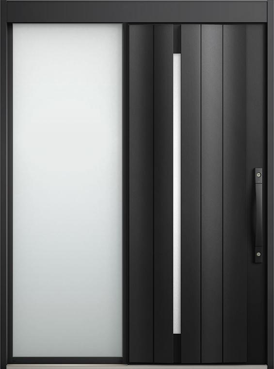 エルムーブ2 片袖 L11型 アルミ色 システムキー / リニアスライド仕様 呼称:187 W:1,870mm × H:2,288mm スライディングドア LIXIL リクシル TOSTEM トステム