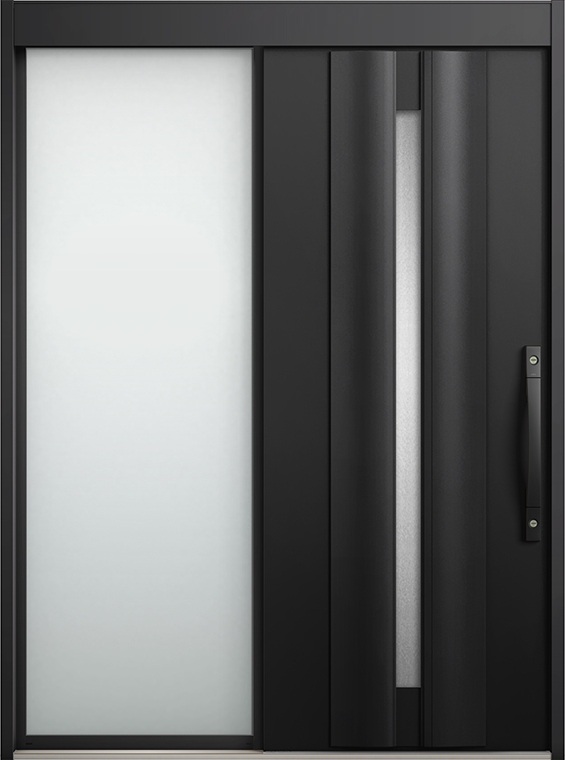 エルムーブ2 片袖 L13型 アルミ色 システムキー仕様 呼称:187 W:1,870mm × H:2,288mm スライディングドア LIXIL リクシル TOSTEM トステム