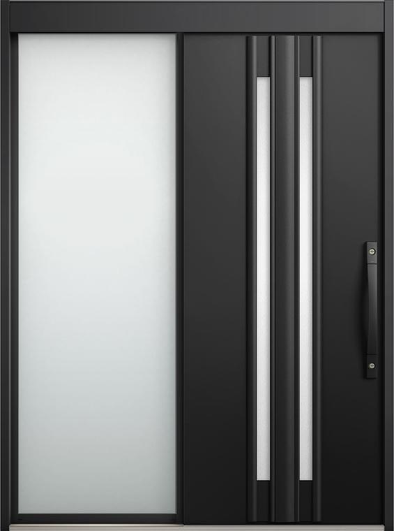 エルムーブ2 片袖 L14型 アルミ色 手動タイプ 呼称:187 W:1,870mm × H:2,288mm スライディングドア LIXIL リクシル TOSTEM トステム