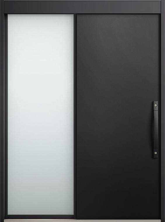 エルムーブ2 片袖 L16型 アルミ色 システムキー仕様 呼称:169 W:1,692mm × H:2,288mm スライディングドア LIXIL リクシル TOSTEM トステム