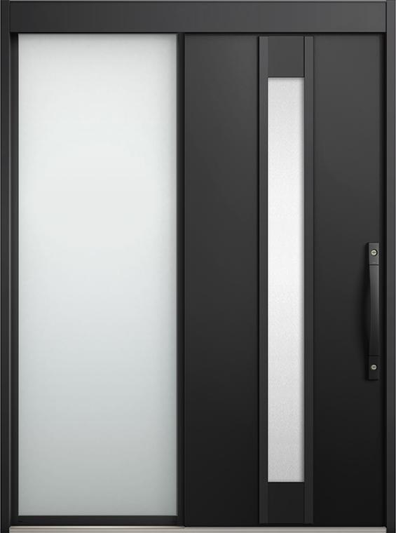 エルムーブ2 片袖 L19型 アルミ色 システムキー仕様 呼称:164 W:1,640mm × H:2,288mm スライディングドア LIXIL リクシル TOSTEM トステム