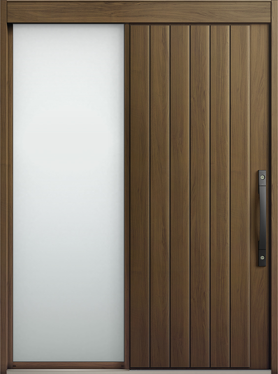 エルムーブ2 片袖 L27型 木目調 システムキー仕様 呼称:164 W:1,640mm × H:2,288mm スライディングドア LIXIL リクシル TOSTEM トステム