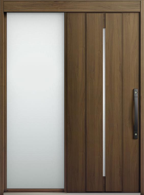 エルムーブ2 片袖 L22型 木目調 システムキー仕様 呼称:187 W:1,870mm × H:2,288mm スライディングドア LIXIL リクシル TOSTEM トステム