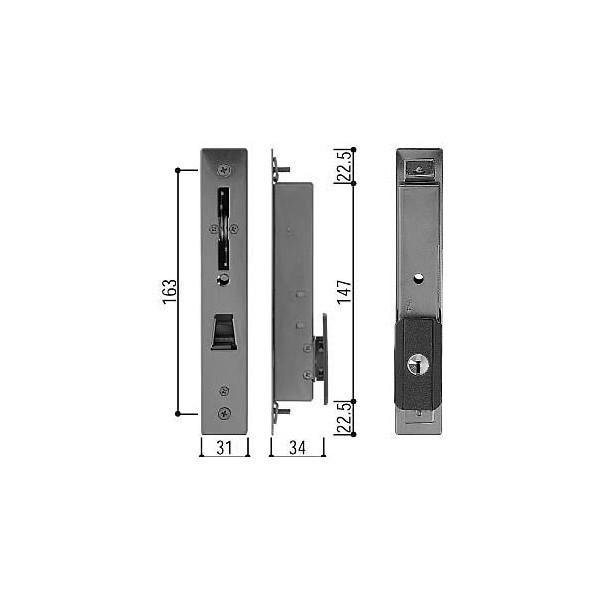 【YKK AP メンテナンス部品】 召合せ 内外締り錠 外部シリンダー (HH-3K-18289) DIY リフォーム