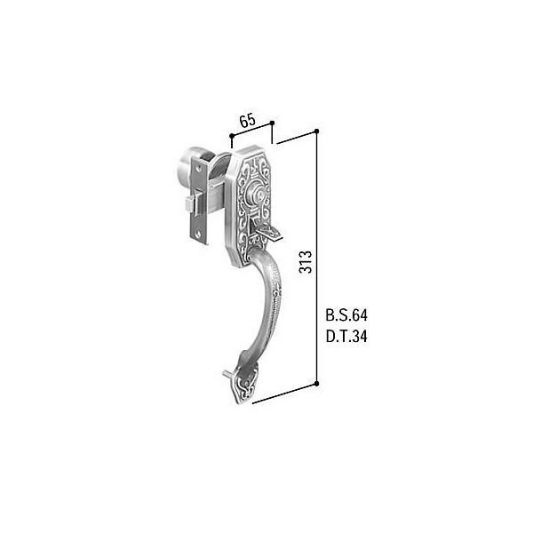 【YKK AP メンテナンス部品】 サムラッチハンドル錠セット (HH-J-0229)