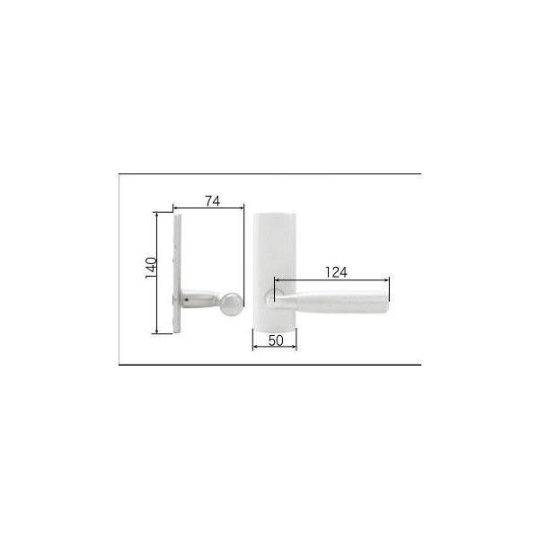 リクシル リビング建材用部品 ドア ハンドル:ウッドグリップCタイプ把手空錠 MZTBWCS05 LIXIL トステム メンテナンス DIY リフォーム