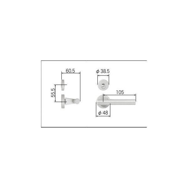 メンテナンス トステム ハンドル:スタイルGタイプ把手表示錠 MZTZTGH52 ドア リフォーム DIY LIXIL リビング建材用部品 リクシル