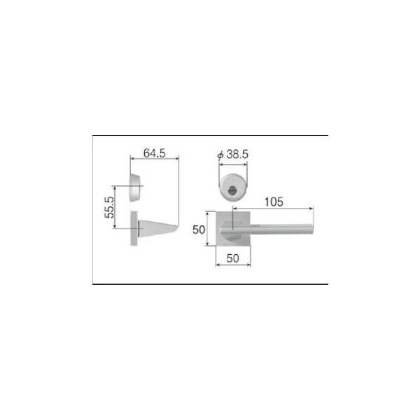 リクシル リビング建材用部品 ドア ハンドル:スタイルJタイプ把手シリンダー錠 MZTZTJC52 LIXIL トステム メンテナンス DIY リフォーム
