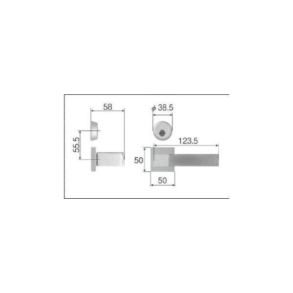 リクシル リビング建材用部品 ドア ハンドル:スタイルLタイプ把手シリンダー錠 MZTZTLC52 LIXIL トステム メンテナンス DIY リフォーム