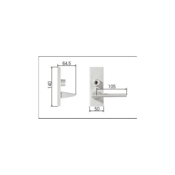 リクシル リビング建材用部品 ドア ハンドル:スタイルDタイプ把手シリンダー錠 FNMZ495 LIXIL トステム メンテナンス DIY リフォーム