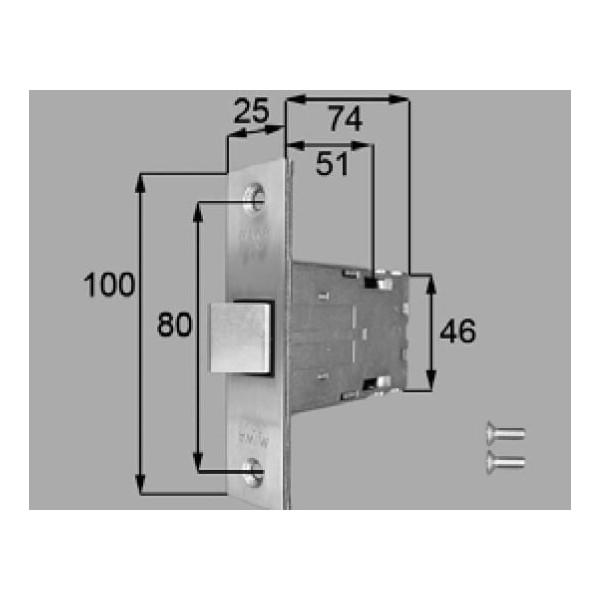 リクシル 部品 箱錠 FNMZ225 色 シルバー LIXIL トステム メンテナンス DIY リフォーム