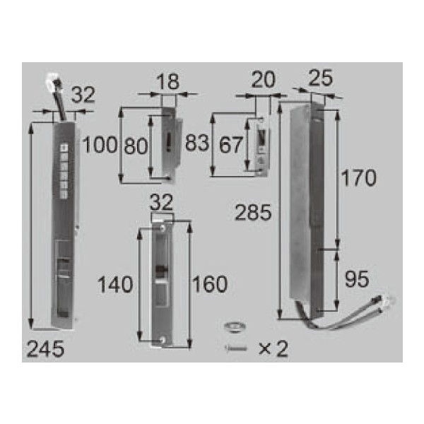LIXIL リクシル 新日軽 ドア・引戸・内装材 電装部品・その他 電装部品 電気錠バッテリータイプ J8DL1049 部品 DIY リフォーム