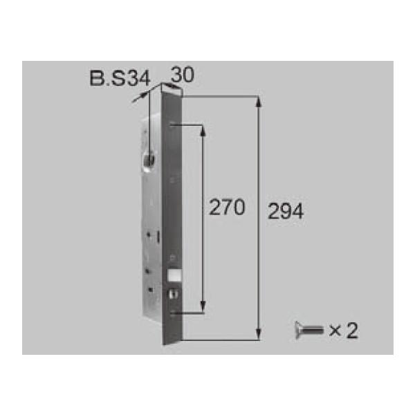 LIXIL リクシル 新日軽 ドア・引戸・内装材 ハンドル・クレセント・錠類 錠類 錠ケース S8DL350 部品 DIY リフォーム
