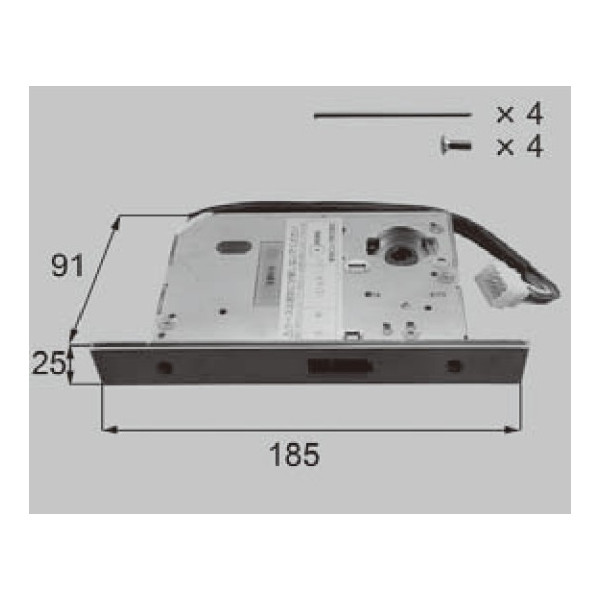 LIXIL リクシル 新日軽 ドア・引戸・内装材 電装部品・その他 電装部品 i-EL 電気錠ケース 制御用 A8DL1763 部品 DIY リフォーム