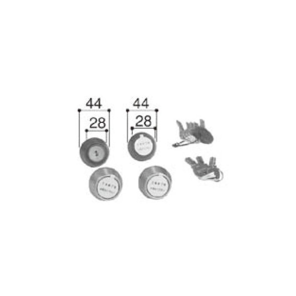 LIXIL リクシル 新日軽 ドア・引戸・内装材 ハンドル・クレセント・錠類 シリンダー PSシリンダーセット 40mm アリッツクラス同一キーセット A8 部品 DIY リフォーム