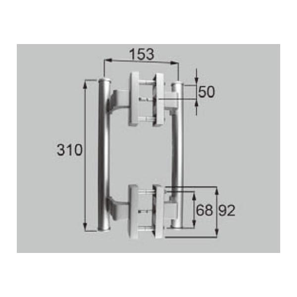 LIXIL リクシル 新日軽 ドア・引戸・内装材 ハンドル・クレセント・錠類 ハンドル 室内外ハンドルセット C8DL161P1 部品 DIY リフォーム