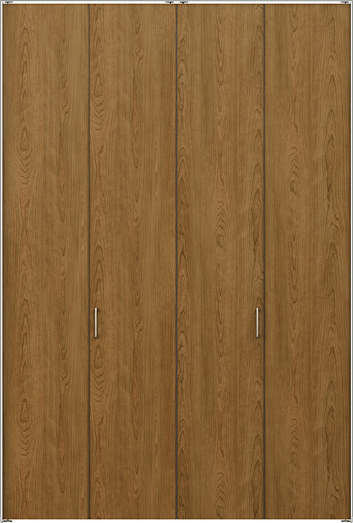 ラフィス Raffis クローゼット 折戸ノンレールタイプ 4枚折戸 ライン枠 RLCN-RAA 13M24 W:1,324mm × H:2,400mm LIXIL リクシル TOSTEM トステム