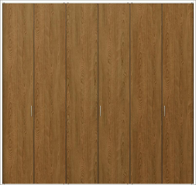 ラフィス Raffis クローゼット 折戸レールタイプ 6枚折戸 ノンケーシング枠 RNCF-RAA 2623 W:2,542mm × H:2,400mm LIXIL リクシル TOSTEM トステム