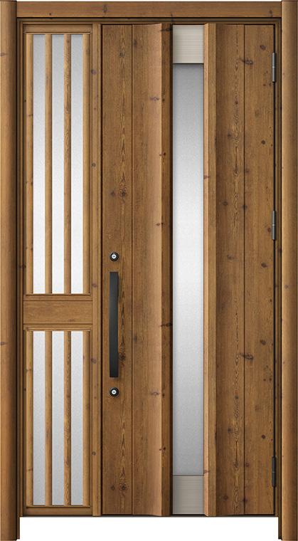 玄関ドア リシェント3 アルミ仕様 C11N型 片袖飾り中桟付ポスト無 W:1,078~1,446mm × H:2,039~2,438mm リクシル トステム