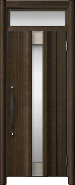 玄関ドア リシェント3 アルミ仕様 ランマ付 C11N型 片開きドア W:779~977mm × H:1,973~2,300mm LIXIL リクシル TOSTEM トステム