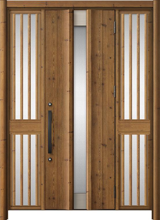 玄関ドア リシェント3 アルミ仕様 C11N型 両袖飾り中桟付ポスト無ドア W:1,150~1,895mm × H:2,039~2,438mm LIXIL リクシル TOSTEM トステム