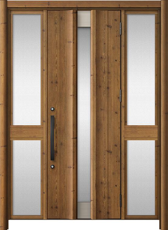 玄関ドア リシェント3 アルミ仕様 C11N型 両袖中桟付ポスト無ドア W:1,150~1,895mm × H:1,738~2,038mm LIXIL リクシル TOSTEM トステム