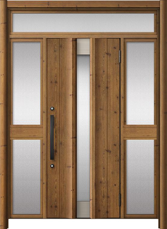 玄関ドア リシェント3 アルミ仕様 ランマ付 C11N型 両袖中桟付ポスト無ドア W:1,150~1,895mm × H:1,973~2,300mm LIXIL リクシル TOSTEM トステム