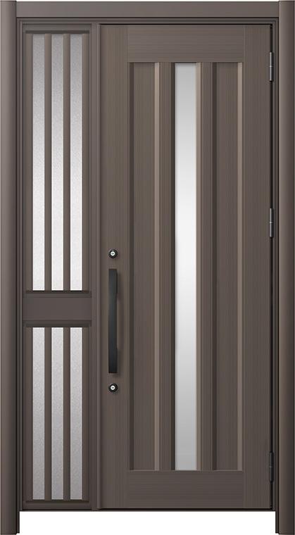 玄関ドア リシェント3 アルミ仕様 C12N型 片袖飾り中桟付ポスト無 W:1,051~1,446mm × H:1,738~2,038mm リクシル トステム