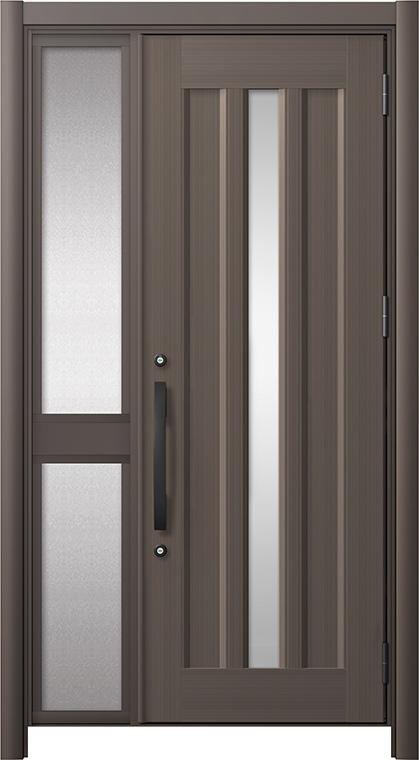 見事な 玄関ドア リシェント3 アルミ仕様 C12N型 片袖中桟付ポスト無 W:1,051~1,446mm × H:2,039~2,438mm リクシル トステム, きもの処 紅葉堂 45c2022b