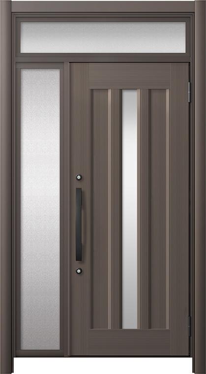 玄関ドア リシェント3 アルミ仕様 ランマ付 C12N型 片袖ドア W:910~1,446mm × H:2,301~2,600mm LIXIL リクシル TOSTEM トステム