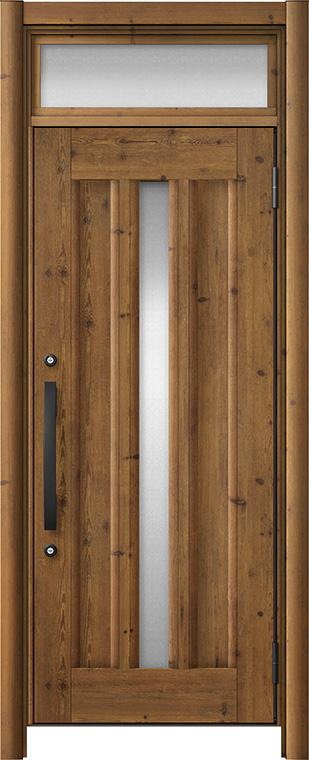 玄関ドア リシェント3 アルミ仕様 ランマ付 C12N型 片開きドア W:752~977mm × H:2,301~2,600mm LIXIL リクシル TOSTEM トステム