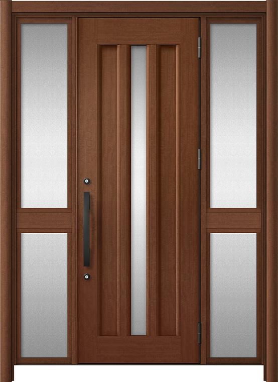 玄関ドア リシェント3 アルミ仕様 C12N型 両袖中桟付ポスト無ドア W:1,150~1,895mm × H:2,039~2,438mm LIXIL リクシル TOSTEM トステム