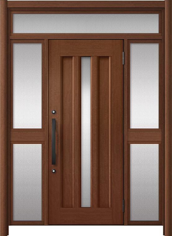 玄関ドア リシェント3 アルミ仕様 ランマ付 C12N型 両袖中桟付ポスト無ドア W:1,150~1,895mm × H:1,973~2,300mm LIXIL リクシル TOSTEM トステム