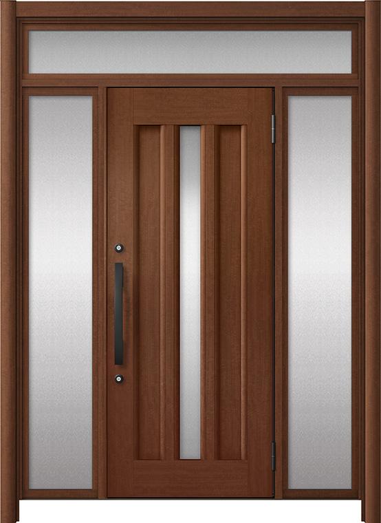 玄関ドア リシェント3 アルミ仕様 ランマ付 C12N型 両袖ドア W:1,068~1,895mm × H:2,301~2,600mm LIXIL リクシル TOSTEM トステム