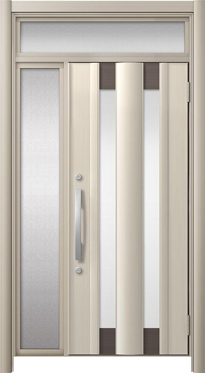 玄関ドア リシェント3 アルミ仕様 ランマ付 C14N型 片袖ドア W:919~1,446mm × H:1,973~2,300mm LIXIL リクシル TOSTEM トステム