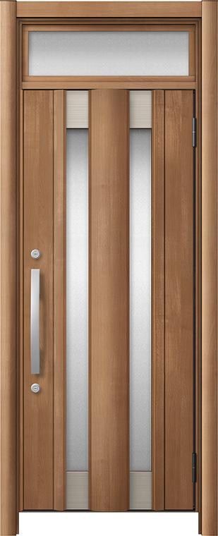 玄関ドア リシェント3 アルミ仕様 ランマ付 C14N型 片開きドア W:761~977mm × H:1,973~2,300mm LIXIL リクシル TOSTEM トステム