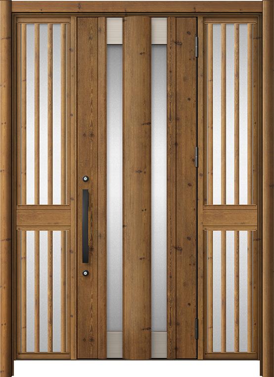 玄関ドア リシェント3 アルミ仕様 C14N型 両袖飾り中桟付ポスト無ドア W:1,150~1,895mm × H:1,738~2,038mm LIXIL リクシル TOSTEM トステム