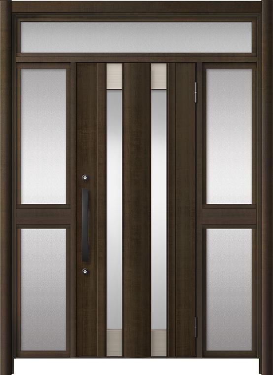 玄関ドア リシェント3 アルミ仕様 ランマ付 C14N型 両袖中桟付ポスト無ドア W:1,150~1,895mm × H:2,301~2,600mm LIXIL リクシル TOSTEM トステム