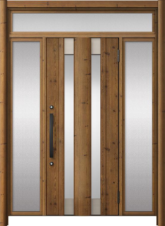 玄関ドア リシェント3 アルミ仕様 ランマ付 C14N型 両袖ドア W:1,077~1,895mm × H:2,301~2,600mm LIXIL リクシル TOSTEM トステム