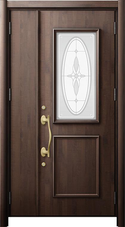 玄関ドア リシェント3 断熱仕様 K2 C15型 親子ドア W:1,201~1,394mm × H:1,943~2,039mm LIXIL リクシル TOSTEM トステム