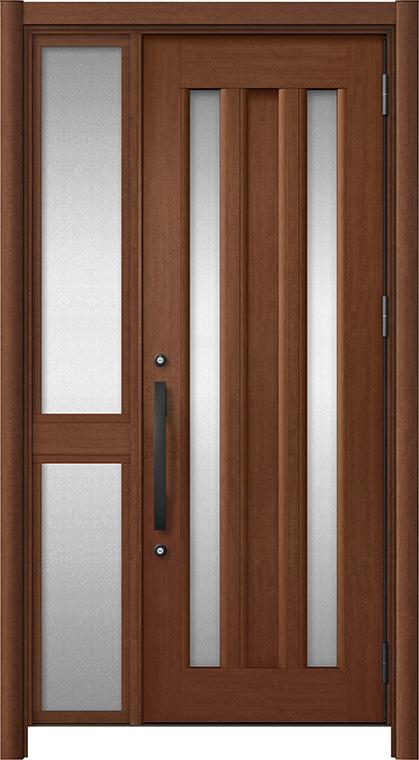 玄関ドア リシェント3 アルミ仕様 C16N型 片袖中桟付ポスト無 W:1,020~1,446mm × H:2,039~2,438mm リクシル トステム