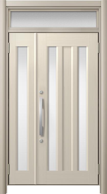 玄関ドア リシェント3 アルミ仕様 ランマ付 C16N型 親子ドア W:1,011~1,484mm × H:1,973~2,300mm LIXIL リクシル TOSTEM トステム