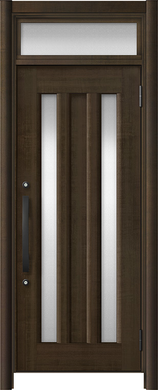 玄関ドア リシェント3 アルミ仕様 ランマ付 C16N型 片開きドア W:721~977mm × H:1,973~2,300mm LIXIL リクシル TOSTEM トステム