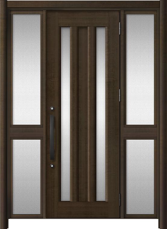 玄関ドア リシェント3 アルミ仕様 C16N型 両袖中桟付ポスト無ドア W:1,150~1,895mm × H:2,039~2,438mm LIXIL リクシル TOSTEM トステム